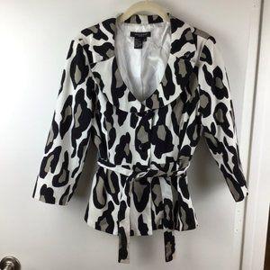 SANDRO SPORTSWEAR Tie Waist Animal Print Jacket